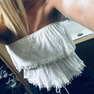 Strapless Tank- Flowy and white